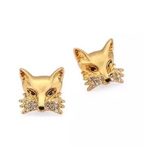 KATE SPADE • So Foxy Golden Fox Earrings